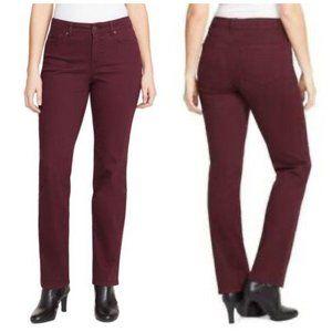 "Bandolino ""Mandie"" Burgundy Berry Jeans Sz 10P"